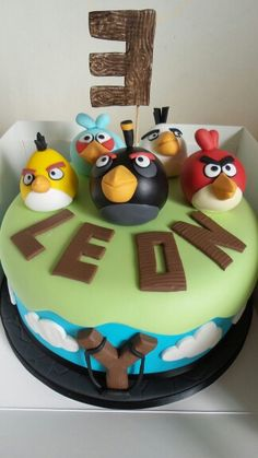 Angry Birds cake by Sarahs Cakes by Design.