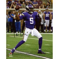 "Teddy Bridgewater Minnesota Vikings Fanatics Authentic Autographed 8"" x 10"" Vertical Throw Photograph - $129.99"