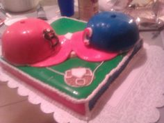 Cardinal vs cubs cake Cubs Cardinals, Cubs Cake, Baked Goods, Wedding Cakes, Baking, Desserts, Food, Wedding Gown Cakes, Tailgate Desserts