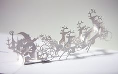 Amazing Christmas cards! Sleigh PopUp Card by jackiehuang on Etsy, $15.00