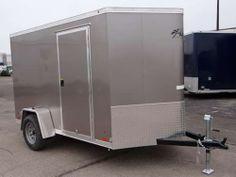 6u0027 X 12u0027 Light Pewter Metallic Enclosed Cargo Trailer With 2u0027 Nose Wedge