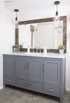 125 awesome farmhouse bathroom vanity remodel ideas (27)