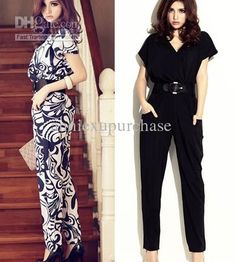 Wholesale Fashion Women Ladies Spring Summer Short Sleeve Long Jumpsuit Romper Pants Floral Solid 2 Patterns, Free shipping, $15.91-21.83/Piece | DHgate