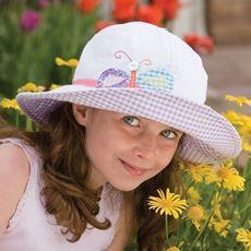 Wallaroo Hats at Emma Mays/Hattitude,  10 Dundas St, Napanee, Ontario emmamayshattitude@gmail.com  Wallaroo Sophia sun hat, UPF 50+ white butterfly