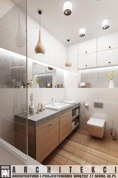 Warszawa - mieszkanie - Średnia łazienka w bloku bez okna, styl skandynawski - zdjęcie od More IN