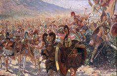 Ancient Warriors Painting by Georges Marie Rochegrosse Greek History, Ancient History, Combat Rapproché, Battle Of Marathon, Greek Soldier, Greek Warrior, Dark Ages, Ancient Greece, Military History