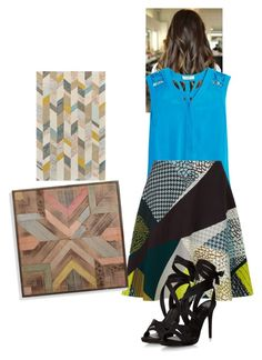 """""""Patchwork"""" by zavalle on Polyvore featuring Sandro, Jaeger and Grandin Road"""
