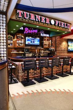 Atlanta Braves All Star Grill Flagship Restaurant - contemporary - basement - atlanta - Jim Weinberg Lifestyles