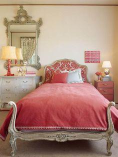 Chinoiserie master bedroom on pinterest eclectic - Red and cream bedroom ideas ...