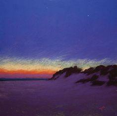The Edge of Dusk (pastel) by Stan Sperlak
