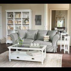 Sofá 3/4 plazas fijo gris claro Sweet home