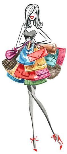 <3 <3 purse lover • fashion illustration