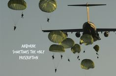 080618-F-3759D-211 U.S. Army paratroopers assigned to the 82nd Airborne Division jump from a C-17 Globemaster III aircraft during a joint forcible entry exercise at Fort Bragg, N.C., on June 18, 2008. The joint exercise is designed to enhance service cohesiveness between U.S. Army and Air Force personnel and train both services on large-scale heavy equipment and troop movement. DoD photo by Staff Sgt. Joshua DeMotts, U.S. Air Force. (Released)