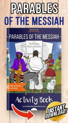 Parables of Jesus (Yeshua) for Kids Activity Book Bible Stories For Kids, Bible Lessons For Kids, Bible For Kids, Kids Activity Books, Activities For Kids, Adventure Bible, Parables Of Jesus, The Lost Sheep, Bible Resources