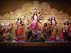 Unbound creativity in Kolkata at Durga Puja 2012 Durga Images, Lord Krishna Images, Maa Durga Hd Wallpaper, Durga Puja Kolkata, Panda Background, Maa Durga Image, Durga Ji, Durga Painting, Bhagavata Purana
