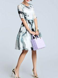 Printed/Dyed Silk Mini Dress
