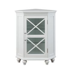 Grayson Corner Floor Cabinet by Elegant Home Fashions - Free Shipping Today - Overstock.com - 18884748 - Mobile