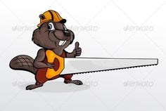 Beaver holding Chainsaw  #GraphicRiver         Beaver wearing helmet and holding chainsaw. Contains EPS8 version and high-resolution JPEG     Created: 26October13 GraphicsFilesIncluded: JPGImage #VectorEPS Layered: No MinimumAdobeCSVersion: CS Tags: animal #builder #carpenter #cartoon #chane #character #child #cub #cute #fun #hand #hold #hummer #humor #icon #illustration #isolated #laborer #lumberjack #painting #tail #uniform #vector #woodchuck #work #worker #young