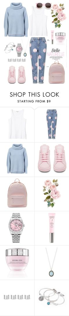 """""""Untitled #227"""" by fradoria ❤ liked on Polyvore featuring Monki, Topshop, Maison Ullens, adidas, PB 0110, Rolex, Vichy, Lancôme, Armenta and Maison Margiela"""