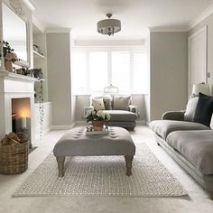 Home Interior Salas .Home Interior Salas Living Room Goals, New Living Room, Interior Design Living Room, Home And Living, Living Room Designs, Cosy Living Room Grey, Living Room Decor Colors Grey, Cosy Cottage Living Room, Interior Livingroom