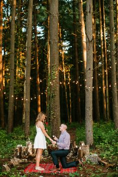 Proposal, Wooded Proposal, Forest Proposal, Bistro Light Proposal, St. Louis Wedding Photography, Missouri Wedding Photography / Courtney Smith Photography