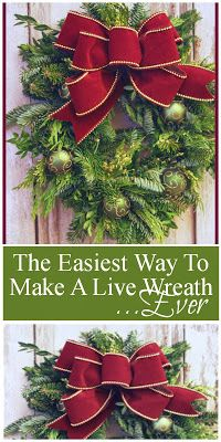 Make a  beautiful live wreath... EASY with lots of instructions and  pictures