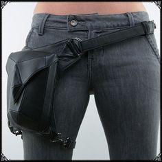 个性定制单肩包 蒸汽朋克独家复古摇滚包 哥特式男士女士腰包潮