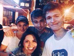 Shai, Theo and Ansel with a fan in Atlanta