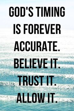 God's timing is forever accurate. Believe it. Allow it. Faith Quotes, Bible Quotes, Qoutes, Strength Quotes, Quotes Quotes, Soli Deo Gloria, Faith In God, Jesus Faith, God Jesus