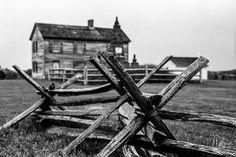 Fences at Bull Run. Ilford FP4 Plus 125, Leica M3, Leica Summicron DR 50mm f/2. © Jim Fisher