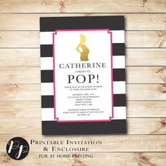 Printable Baby Shower Invitation & Enclosure // by PeachpodPaperie
