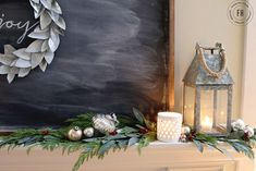 Make a chalkboard & frame of the barnwood and put over the mantel!