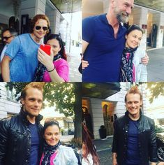 Here are some new fan pics of Sam Heughan and Graham McTavish in Rome More after the jump! –