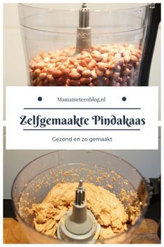 Zelfgemaakte Pindakaas mamameteenblog.nl #Healthy | #Gezondheid | #DIY | #Pindakaas