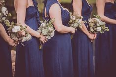 Blue bridesmaid dresses, Rustic Wedding, driftwood centerpiece, succulents, Posy, Benjamin James Photography, The Finer Things Events