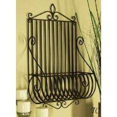 Metal Wall Planter perfect for creeping thyme or oregano. the scent of herbs is