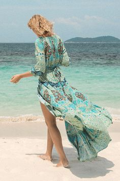 Aloha Fox Wrap Dress