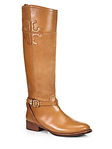 Tory Burch - Lizzie Leather Riding Boots - Saks Fifth Avenue Mobile