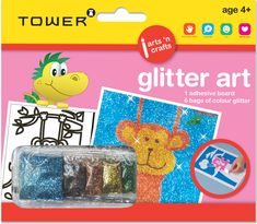 Glitter Art is a fun way for your children to play and learn. It inspires creativity and provides hours of fun. Place the glitter on the adhesive board and see your picture sparkle! Office Organisation, Glitter Art, Your Child, Children, Kids, Adhesive, Creativity, Arts And Crafts, Africa