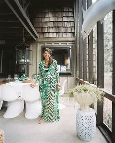 Lisa Sherry in her vacation home on Bald Head Island, North Carolina