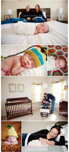 I love the at-home newborn photography. It shows the entire new family.