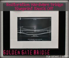 Restoration Hardware Blueprint Art knock Off {tutorial}