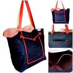 "Denim Bag 15 Details: - materials: denim, cotton, waterproof lining, deco strip and button - closure: zipper and ""flap"" with pockets: 1 - inside and 2 - exterior (front and back with zipper closure) Denim Cotton, Denim Bag, Gym Bag, Exterior, Closure, Pockets, Zipper, Button, Deco"