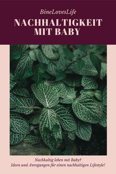 Wo kann ich anfangen? Und wie nachhaltig kann ein Leben mit Baby sein? Plant Leaves, Zero, Plants, Deutsch, Sustainable Gifts, Family Life, Baby Ideas, Mindfulness, Sustainability