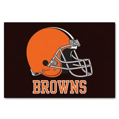 """Cleveland Browns All-Star Mat 33.75x42.5 - Show your team pride and add style to your tailgating party with FANMATS area rugs. Made in U.S.A. 100% nylon carpet and non-skid recycled vinyl backing. Machine washable. Officially licensed. Chromojet printed in true team colors.FANMATS Series: ALLSTARTeam Series: NFL - Cleveland BrownsProduct Dimensions: 33.75""""x42.5""""Shipping Dimensions: 34""""x23""""x1"""". Gifts > Licensed Gifts > Nfl > Cleveland Browns. Weight: 3.40"""