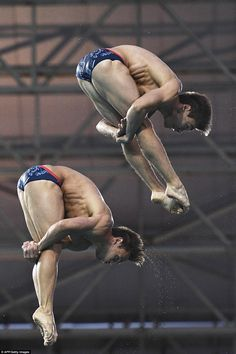 Daley is better known for his solo efforts but he and Goodfellow, pictured in action, were fancied for a medal prior to the games