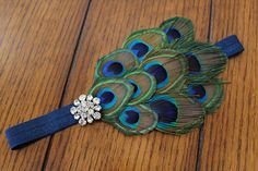 Peacock Feather Headband. My little girl is so getting one.