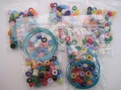 Operation Christmas Child Necklace or Bracelet Bead Kits for Less than $.10 each kit! | StewardShop
