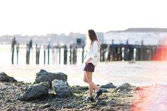 Bodega Bay in Maria Berman silver shirt