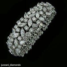 Best Diamond Bracelets : Multi shape diamond bracelet from Fashion Inspire USA Diamond Bracelets, Diamond Jewelry, Bangle Bracelets, Jewelry Gifts, Fine Jewelry, Men's Jewellery, Designer Jewellery, Best Diamond, Schmuck Design